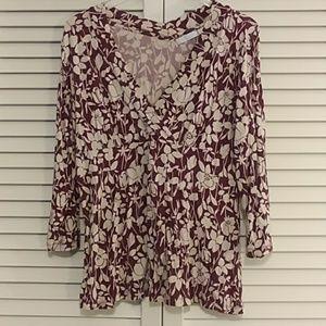Liz Wear by Liz Claiborne 3/4 length sleeve Shirt